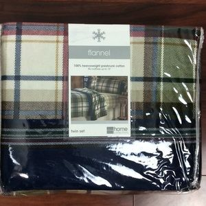 Home Collection New Twin Flannel Sheet Set Plaid